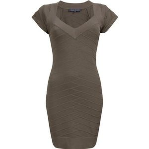 NWT French Connection Gray Dani Crepe Dress